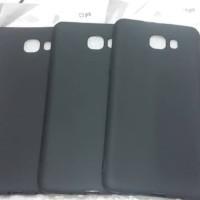 Samsung C9 Pro Silikon Casing Cover Hitam Pekat Matte Soft Case