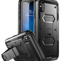 i-Blason iPhone XS Max Case Armorbox with Screen Protector - Black