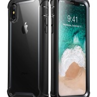 i-Blason iPhone XS Max Case Ares with Screen Protector - Black