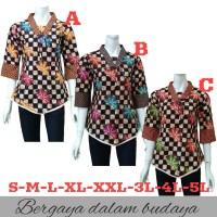 Blouse Batik-Atasan Batik Wanita-Kemeja Batik Wanita-Batik Kantor