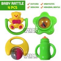 Mainan Edukasi Kerincingan Anak Bayi Goyang Baby Rattle 4 pcs