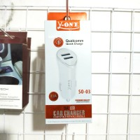 CAR CHARGER 2 USB Y-ONE QUALCOMM QUICKCHARGE