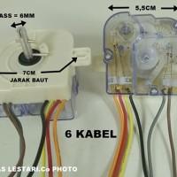 Timer Mesin Cuci 6 Kabel Wash/Pencuci LG-SANYO-SHARP-POLYTRON DLL