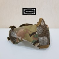 Half Mask PDW Wiremesh Masker Jaring Tactical Face Airsoft Google New
