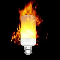 B22 3528 SMD 3 Modes LED Flame Effect Fire Light Bulbs Flickering AC
