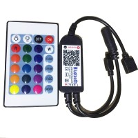 Bluetooth Controller with APP 24KEY IR Remote Control for LED RGB