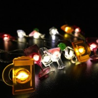 Bar Shape String Lights for Patio Micro 2M 20-LED Timer Control