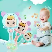 Baby Elektrik Rattle Stik Musik Teether Mainan Gigitan Bayi Lampu
