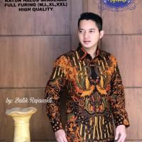 Batik Solo Kemeja Batik Panjang Wahyujaya Ningrat Sogan Rajasakti