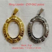 Ring Kalung Titanium Liontin ikat batu akik per codi DICS 50% zyp-062
