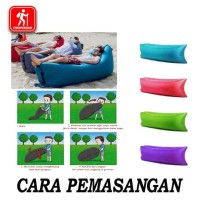 Eksklusif Kursi Angin Air Sofa Lazy Air Bed Kasur Malas Santai Camping