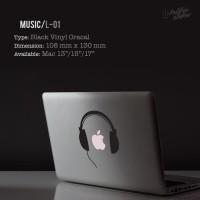 Decal Sticker Macbook Apple 10 13 15 Music