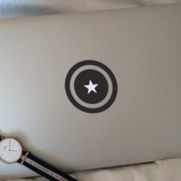 Decal Macbook Sticker Captain America Shield