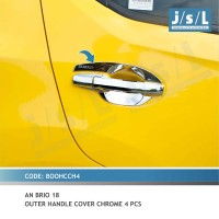 jSL Paket Cover Handle + Outer Handle Chrome All New Brio 2018-2019