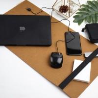 UCHII Felt Desk Mat Keyboard Holder Laptop Pad - Tatakan Komputer Meja