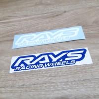 Stiker mobil logo Rays Racing Wheels