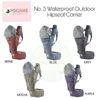 Pognae No.5 Waterproof Outdoor Hipseat Carrier (Wine)