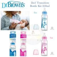 Dr Brown's Standard 2in1 Transition Bottle Kit 250ml - PINK