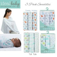 Ideal Baby - 3 Pack Swaddles