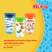 Nuby Wonder Cup Printed Tritan 300ml - birds
