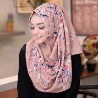 jilbab kerudung pashmina instan pastan sala motif bunga sakura asli