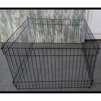 PAGAR kandang hewan/ pagar anjing kelinci kucing hitam 90x60 CM