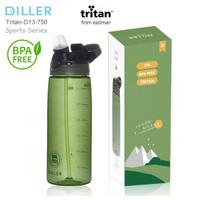 BOTOL AIR MINUM TERMOS DILLER 750 ml TRITAN BPA FREE SPORT SERIES
