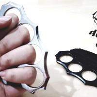 "Knuckle Solid Steel Grip Paracord-Hitam & Silver ""Self Defense Shop"""