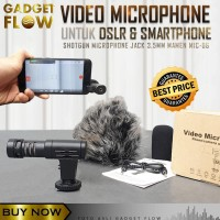 Mic Microphone Video Shotgun Smartphone & Kamera DSLR VLOG MAMEN 06