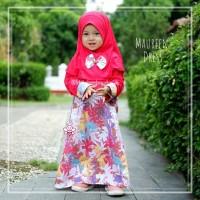 Maureen Dress - Baju Muslim Balita - Gamis Anak Kekinian 5-6thn