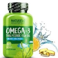 NATURELO Premium Omega-3 Fish Oil 120c- 1100 mg Triglyceride Omega 3