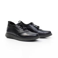 Volve Orca Black Sepatu Casual Formal Slip On Pria Dengan Aksen Tali