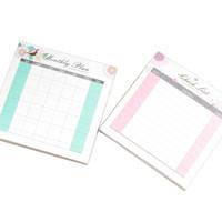 Checklist, Time Schedule, Weekly Planner, Monthly Planner Flower Bird
