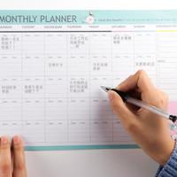 Monthly Planner A4 Flower Bird