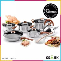 OXONE panci set stainless eco cookware 12+2pc OX-933