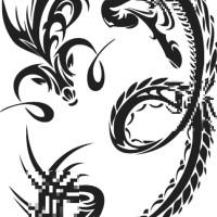 Wall Sticker/ Stiker Kaca Dekorasi Naga/ Dragon