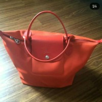 authentic PRELOVED LONGCHAMP ORIGINIL (ORANGE) Tas