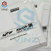 Kwon Seragam Taekwondo Kwon Club Line Kerah Putih