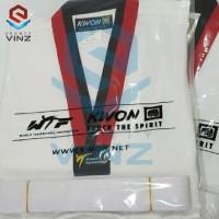 Kwon Seragam Taekwondo Dobok Club Line Kerah Poom