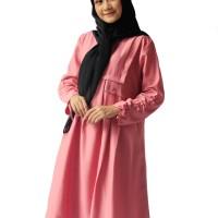 Blous   Baju Wanita   Tunik Rampel dusty pink   Baju Murah