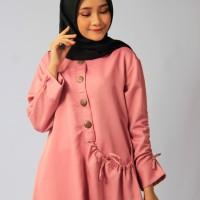 Blous   Baju Wanita   Baju Murah Tunik Kantong Dusty Pink