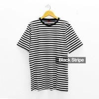 Kaos Polos Stripe Classic Black