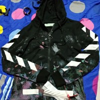 jaket hoodie off white galaxy not bape supreme zipper ultimate clone