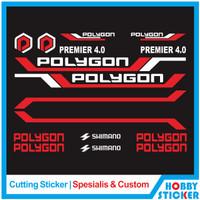 Decal Frame Polygon Sticker MTB Stiker Sepeda Custom