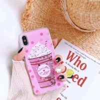 Glitter Pink Ice Cream Xiaomi Redmi S2 6A 5A Mi 6X A2 Bling Pasir Air