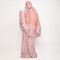Batik Huza Mukena Salma Bordir + Sajadah Floral