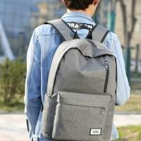 Tas Ransel Tas Punggung Backpack Unisex dgn USB Port & Tempat Laptop