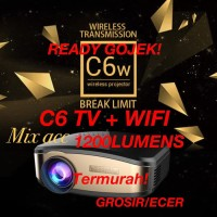 Cheerlux C6 Wireless Proyektor Projector WIFI 1200 ANSI Lumens TERBARU