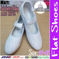 Sepatu Haji Umroh Akar Flat Shoe Umrah Putih