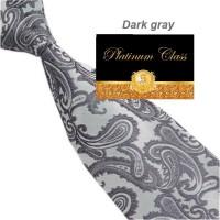dasi batik import pria besar warna abu silver dark grey platinum class
